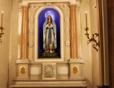 Altare in marmo Santa Maria Immacolata