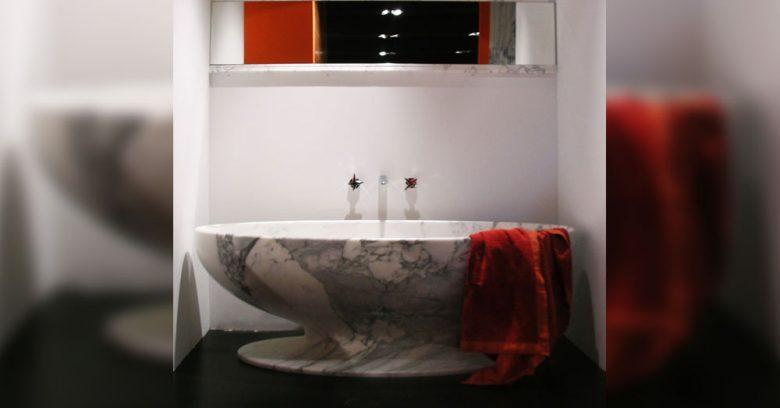Vasca design in marmo di Oscar Sandri
