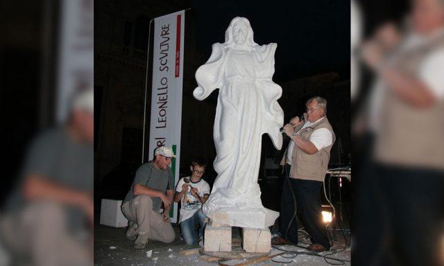 Scultura arte sacra in marmo
