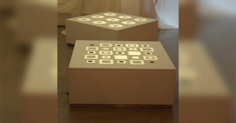 Soluzioni per illuminazione in marmo esposte alla good design gallery di Milano nell'edizione 2011